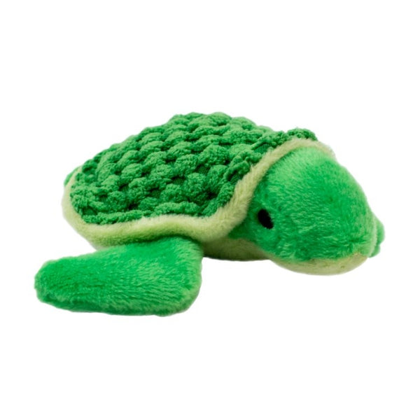 Tall Tails Plush Turtle Squeaker Toy 4""