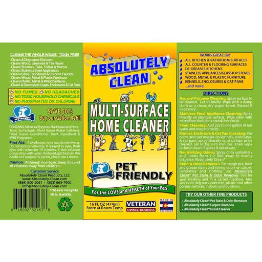 Absolutely Pet Friendly Multi Surface Home Cleaner 16oz