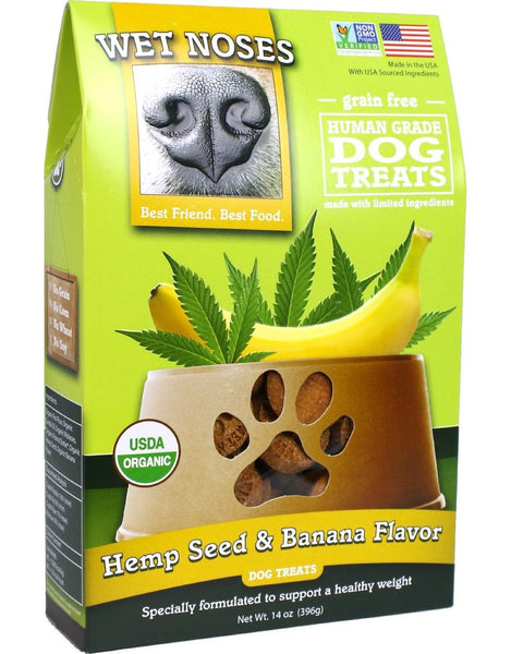 Wet Noses Hemp Seed and Banana Flavor Dog Treats