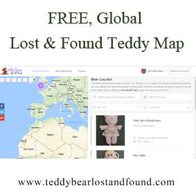 FREE, global Teddy Bear Lost & Found Map