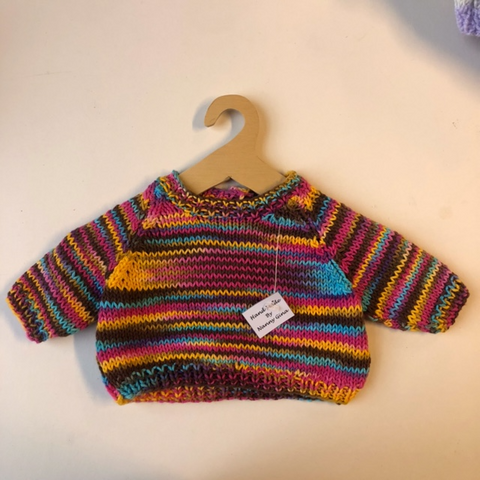 Hand Knitted Organic Cotton Jumper for Teddy Bears