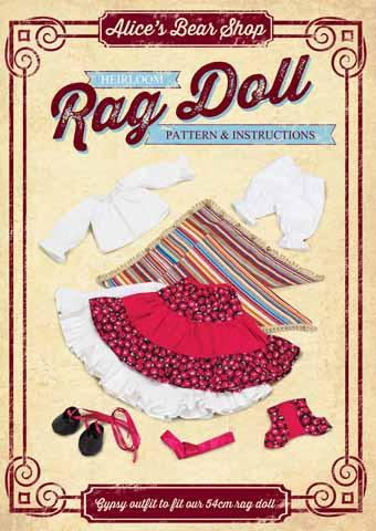 Rag Doll Outfit Making Kit - Gypsy Outfit to fit our 54cm / 21 inch Rag Doll