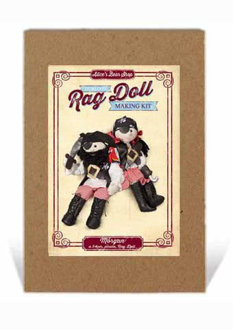 Rag Doll Making Kit - Morgan 54cm when made (includes Parrot, finger puppet kit)