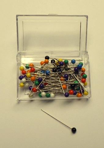 Bobble head pins - 30mm - Approximately 80 per box