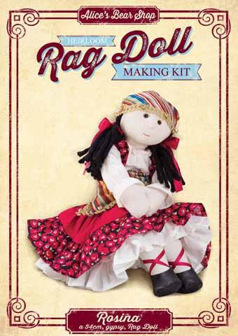 Rag Doll Making Kit - Rosina 54cm when made