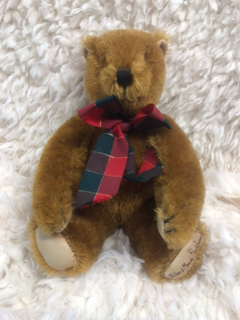 1990 Canterbury Teddy Bear signed by John and Maude Blackburn