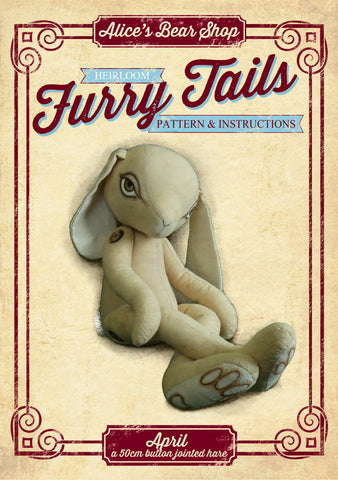 "April Hare Pattern and Instructions Download - 50cm/20"" when made - Alice's Bear Shop"