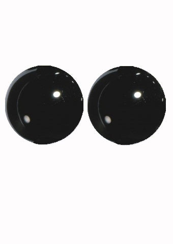 Hand Made English Black Glass Eyes - Size 4mm to 14mm -  for Teddy Bears and Rag Dolls