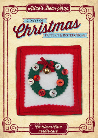 *DOWNLOAD* - Pattern and Instructions - Christmas Card Needle Case - Alice's Bear Shop