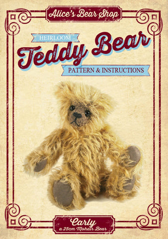 Teddy Bear Making Pattern and Instructions Download - Carly - 22cm when made - Alice's Bear Shop