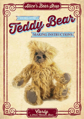 Teddy Bear Pattern and A5 Instruction Booklet - Carly Bear 22cm when made