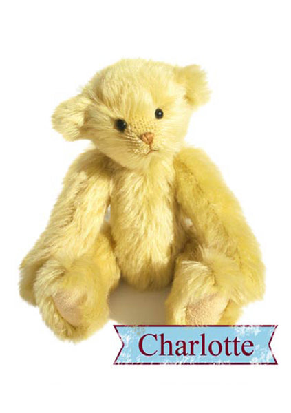 "Download - Pattern and Instructions - Charlotte Teddy Bear 19cm/7.5"" when made - Alice's Bear Shop"