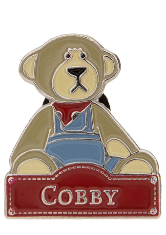 Cobby Bear - Pin Badge  - Charlie Bears - Alice's Bear Shop
