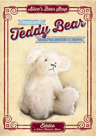 Teddy Bear Making Pattern and Instructions Download - Eddie - 33cm when made - Alice's Bear Shop