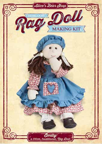Rag Doll Kit - Emily Traditional Rag Doll - 54cm when made