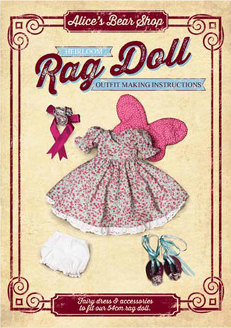 *DOWNLOAD* Sewing a Rag Doll Outfit - Fairy - Pattern and Instructions - to fit our 54cm Rag Doll - Alice's Bear Shop