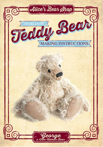 Teddy Bear Pattern and A5 Instruction Booklet - George Bear 12cm when made