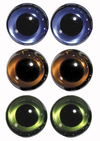Hand Made English Glass Eyes - Size 10mm -  for Teddy Bears and Rag Dolls