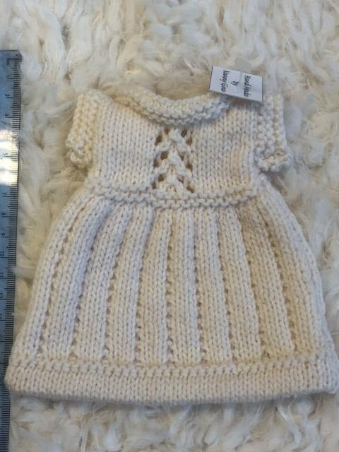 Hand Made Knitted Teddy Bear or Doll Dress.