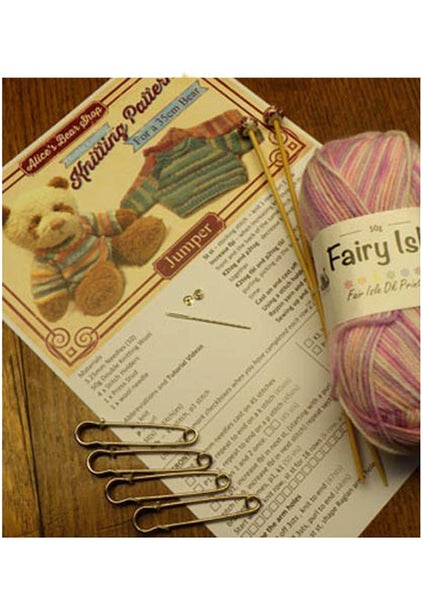 "*DOWNLOAD* - Knitting Pattern - Jumper for 35cm/14"" Teddy Bear - Alice's Bear Shop"