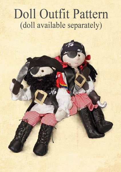 *DOWNLOAD* - Pattern and Instructions - Rag Doll Pirate Outfit to fit our 54cm Rag Doll - Alice's Bear Shop