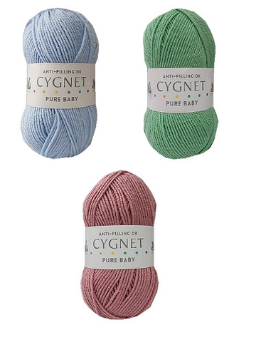 Cygnet Yarns -  Pure Baby DK Double Knitting - All Colours