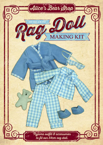 Rag Doll Outfit Kit - Pyjamas - to fit our 54cm Rag Doll