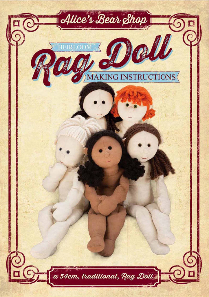 *DOWNLOAD* Sewing a Rag Doll Pattern and Instructions - to make 54cm Rag Doll - Alice's Bear Shop