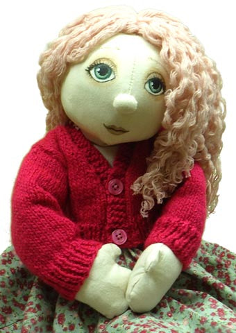"Download - Knitting Pattern - Cardigan for 54cm/21"" Rag Doll - Alice's Bear Shop"