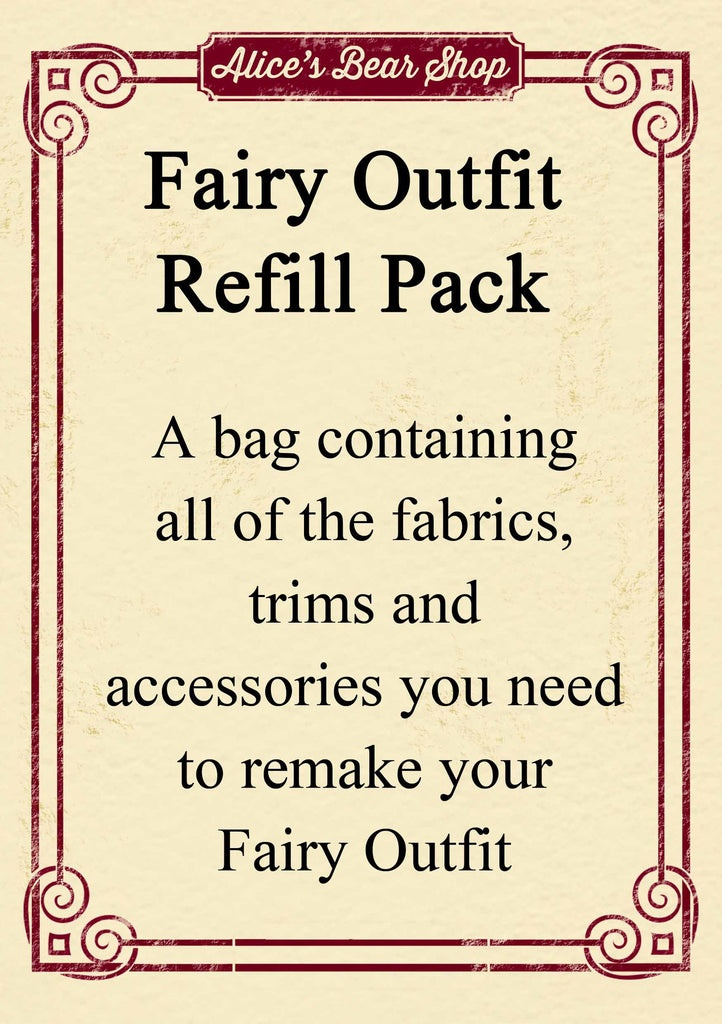 Refill Pack - Fairy Outfit - to fit our 54cm Rag Doll