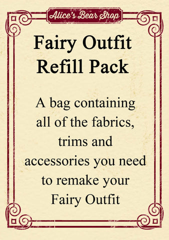Refill Pack - Fairy Outfit - to fit our 54cm Rag Doll - Alice's Bear Shop