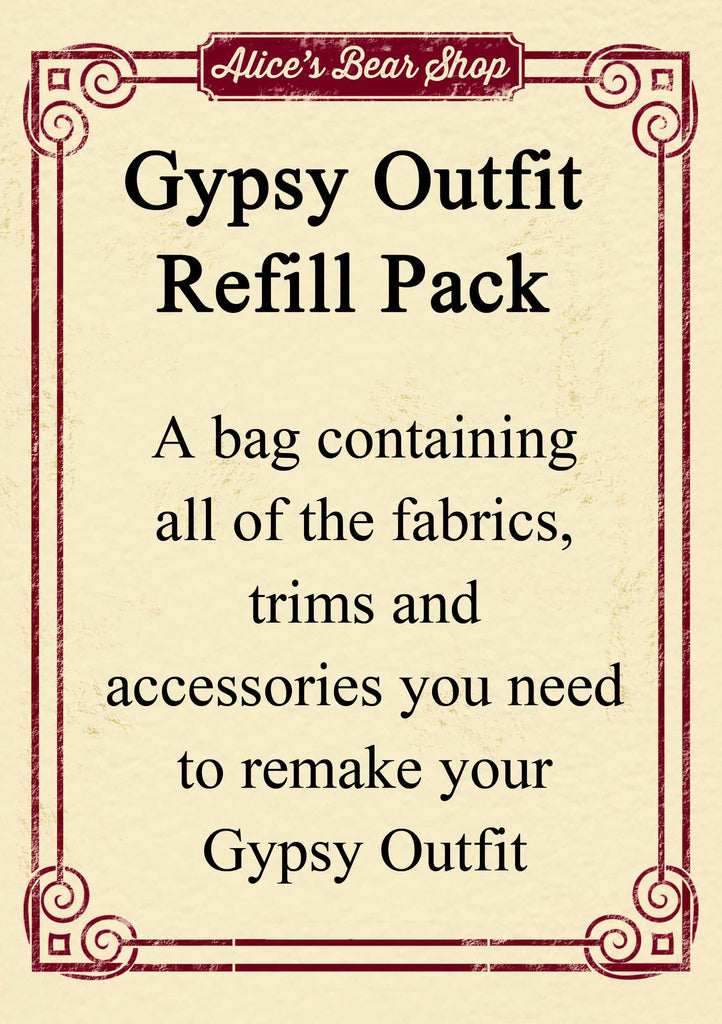 Refill Pack - Gypsy Dress Outfit - to fit our 54cm Rag Doll