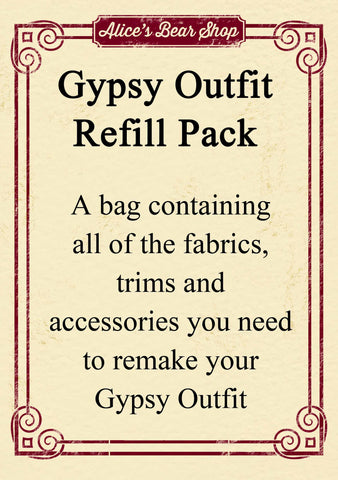 Refill Pack - Gypsy Dress Outfit - to fit our 54cm Rag Doll - Alice's Bear Shop