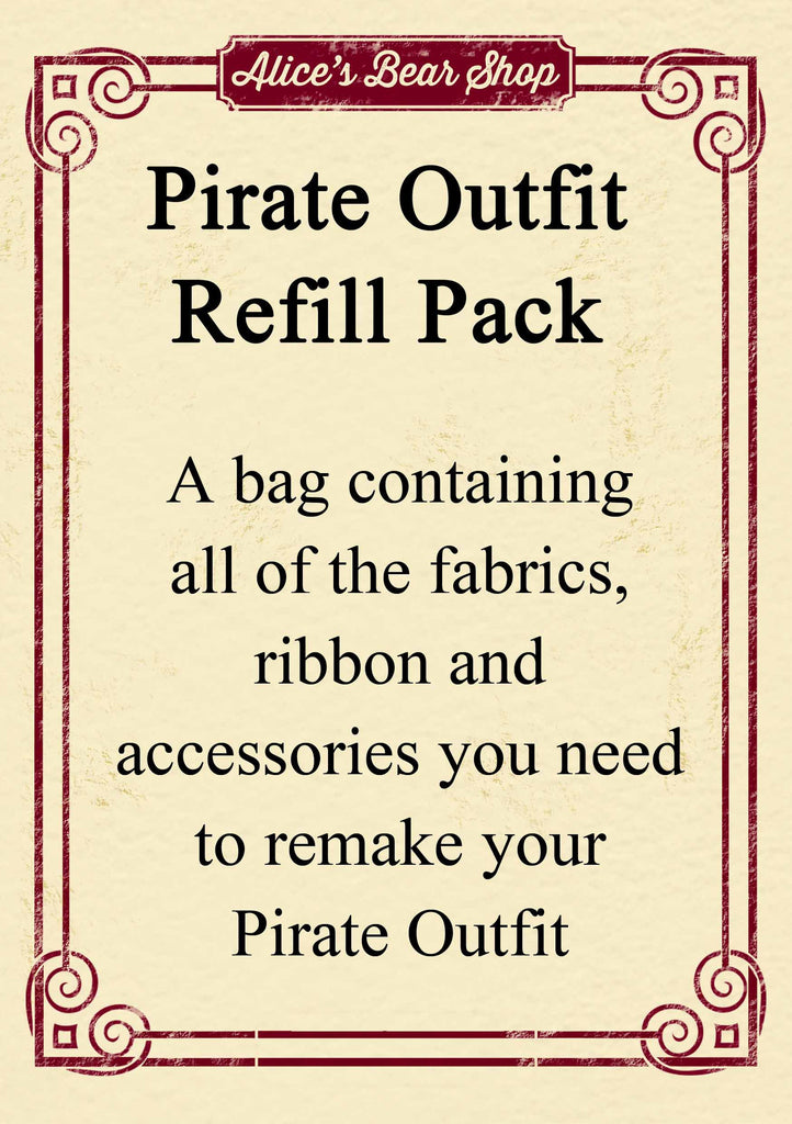 Refill Pack - Pirate Outfit - to fit our 54cm Rag Doll