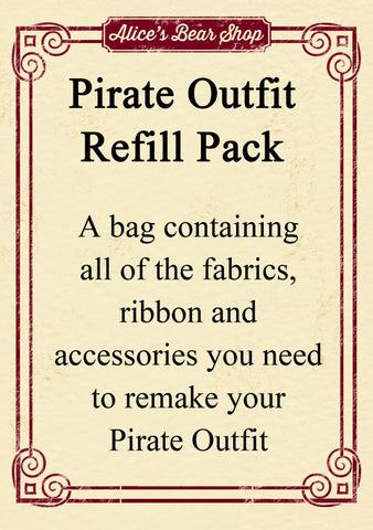 Refill Pack - Pirate Outfit - to fit our 54cm Rag Doll - Alice's Bear Shop