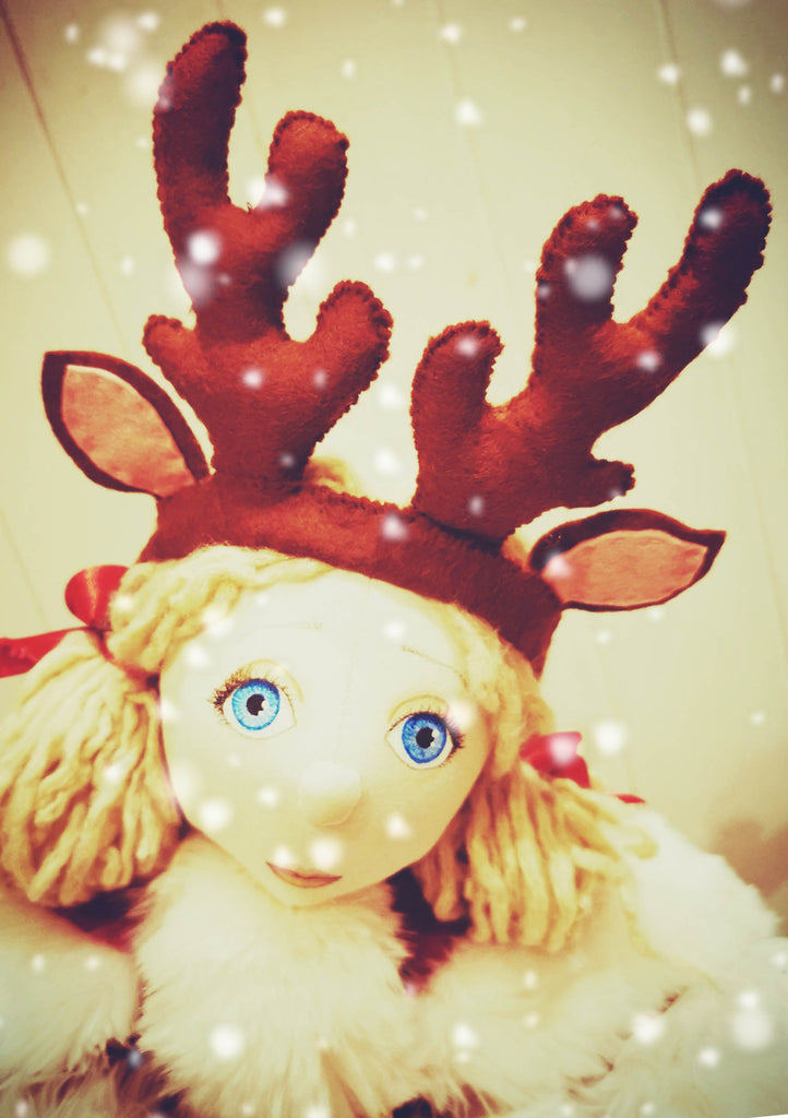 *DOWNLOAD* Sewing a Rag Doll Reindeer Antlers - Pattern and Instructions - to fit our 54cm Rag Doll