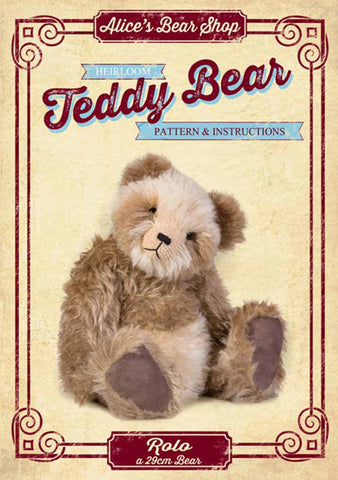 Download - Bear Making Pattern and Instructions - Rolo Bear 29cm when made