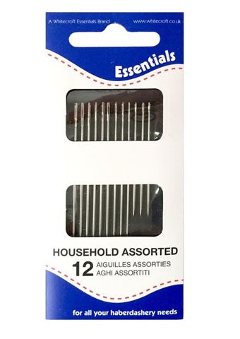 Sewing needles - Household Assorted - Pack of 12 - Alice's Bear Shop