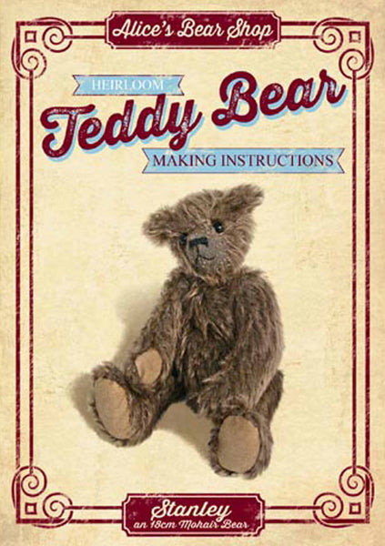 "Download - Pattern and Instructions - Stanley 22cm/7"" when made - Alice's Bear Shop"