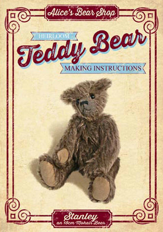 "*DOWNLOAD* - Pattern and Instructions - Stanley 22cm/7"" when made - Alice's Bear Shop"