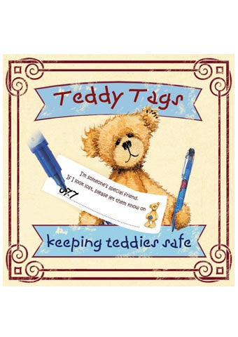 Teddy Tags Refill Pack of 10 Tags - Keeping Teddies Safe - Alice's Bear Shop - Alice's Bear Shop