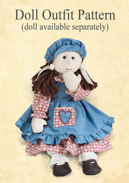 *DOWNLOAD* Sewing a Traditional Dress Outfit - Pattern and Instructions - to fit 54cm Rag Doll - Alice's Bear Shop