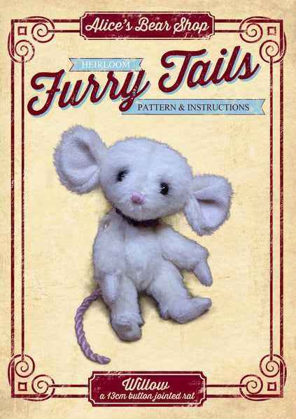"Willow Rat Pattern and Instructions Download - 13cm/5"" when made - Alice's Bear Shop"