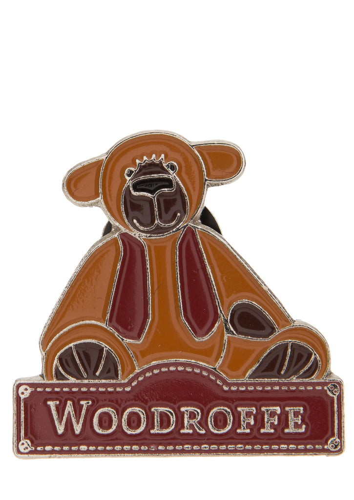 Alice's Bear Shop Woodroffe Bear - Pin Badge  - Charlie Bears - Alice's Bear Shop
