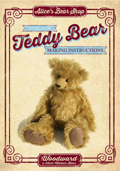 Download - Pattern and Instructions - Woodward 33cm when made - Alice's Bear Shop