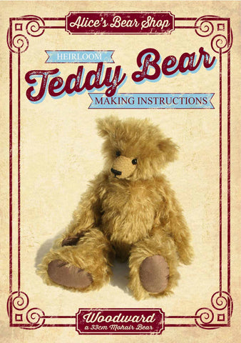 *DOWNLOAD* - Pattern and Instructions - Woodward 33cm when made - Alice's Bear Shop