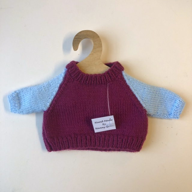 Hand Knitted Jumper for Teddy Bear