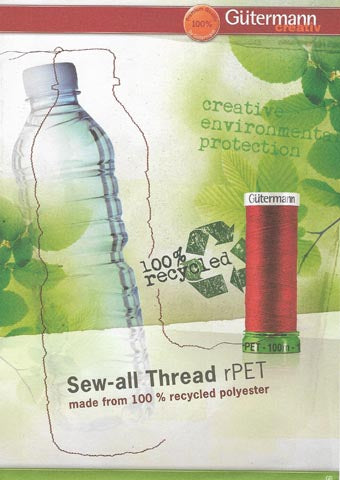 Gutermann *rPET* sew all thread 100% RECYCLED