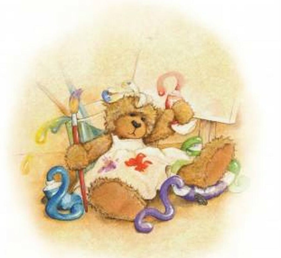 Alice's Bear Shop Art Prints -Sandy Paints a Picture
