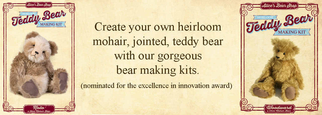 Mohair Bear Making Kits and Patterns